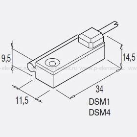 Герконовые датчики серии DSM1C / DSM2C