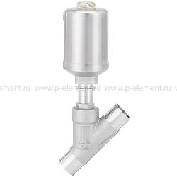 2/2-ходовой пневматический клапан с наклонным шпинделем и приводом из нержавеющей стали - тип 2060