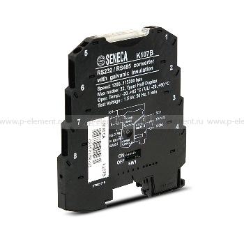 Компактный преобразователь RS-485/RS-232, Seneca, K107B